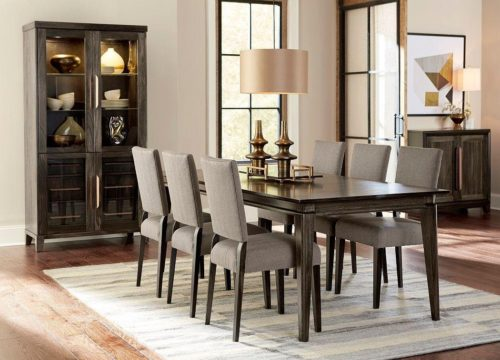 Wood dining table to add to your home furniture.