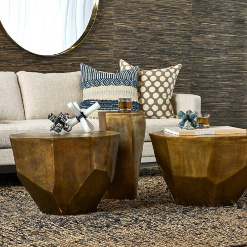 Two decorative coffee tables by Uttermost for the living room.