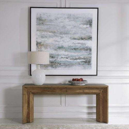 Wood finish entry table from Uttermost
