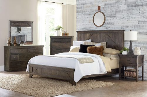 bedroom decor featuring bedroom set and window shades
