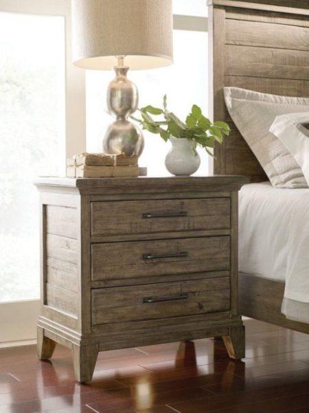 bedroom decor rustic brown nightstand