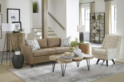 Modern design living room set for a casual look