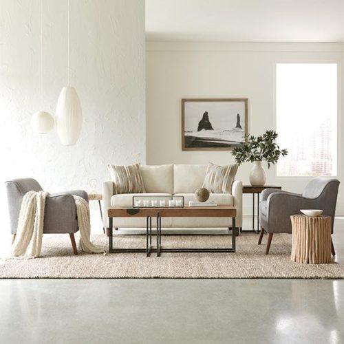 Best Home Furnishings chic living room set for a modern design