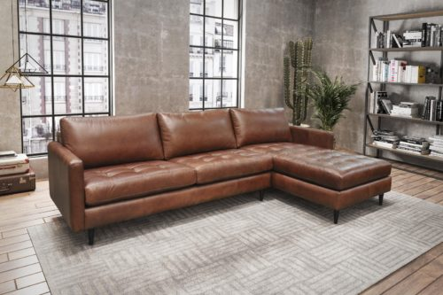 Brown leather sofas from Omnia Leather