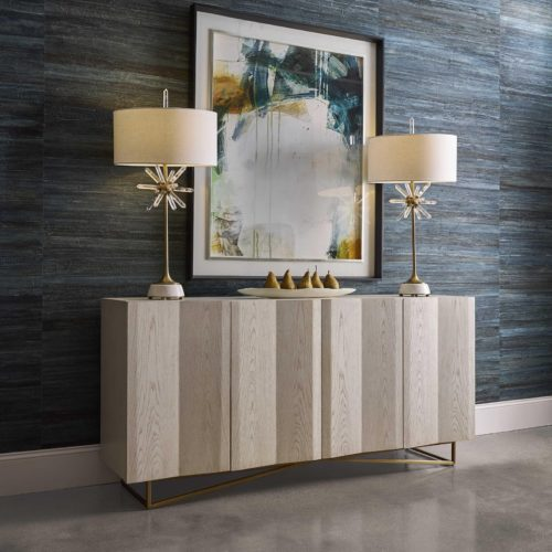 Ripple four door cabinet statement piece by Uttermost for the entryway