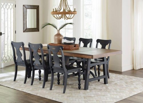 Dark grey dining room furniture chairs from Fusion Designs