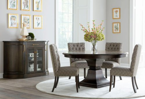 Modern roundtable dining room furniture set from Fusion Designs
