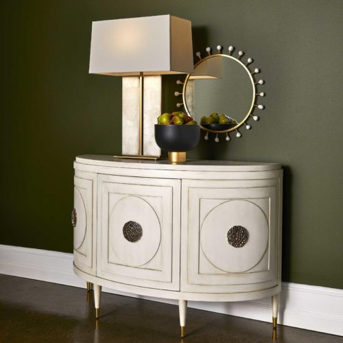 Console statement piece by Uttermost for the entryway