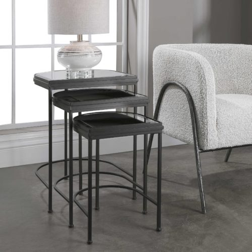 Nesting tables by Uttermost is a super functional piece of furniture for small spaces/