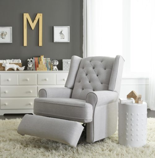 Nursery chairs featuring a soft comfy recliner by Best Home Furnishings