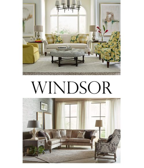 Windsor sofas and sectionals displayed in a living room by Kincaid