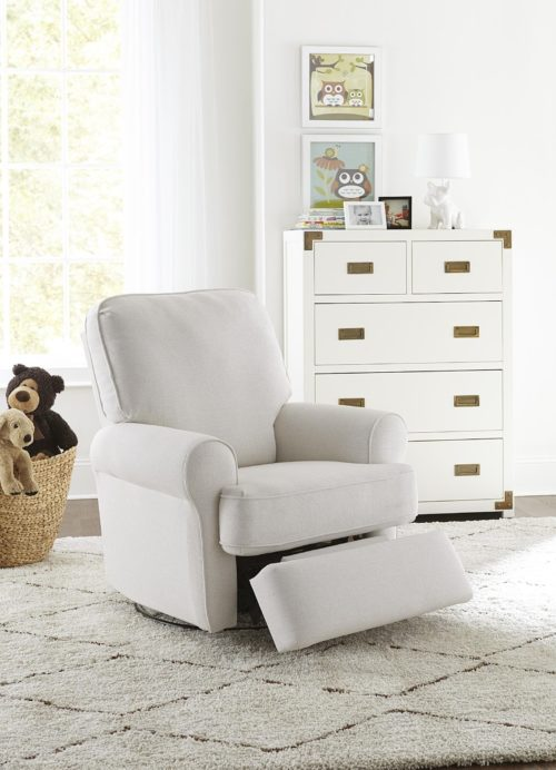 nursery chairs featuring a white comfy recliner from Best Home Furnishings