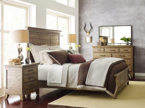 room essentials from Kincaid featuring an aged wood bedroom set
